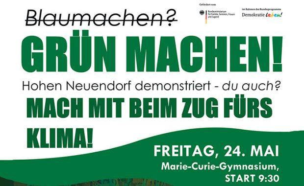 """Flyer zur Veranstaltung """"Grün machen!"""" am 24. Mai 2019"""