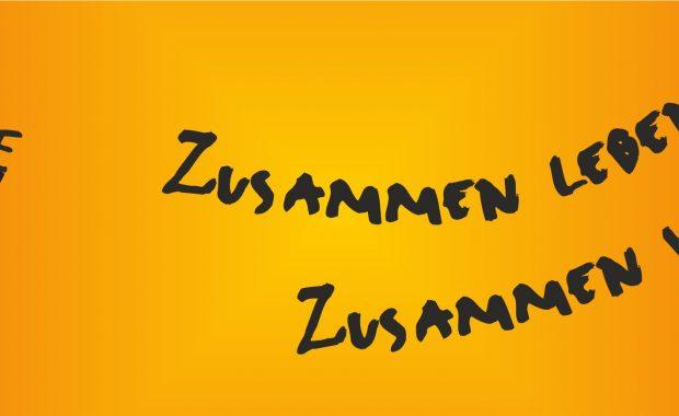 Banner der Veranstaltung Interkulturelle Woche 2020 zeigt illustrativ ein Auge und das Motto der Woche.