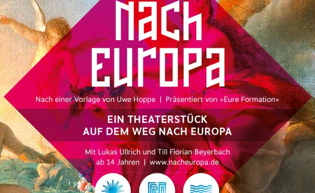 Plakat zum Theaterstück Nach Europa