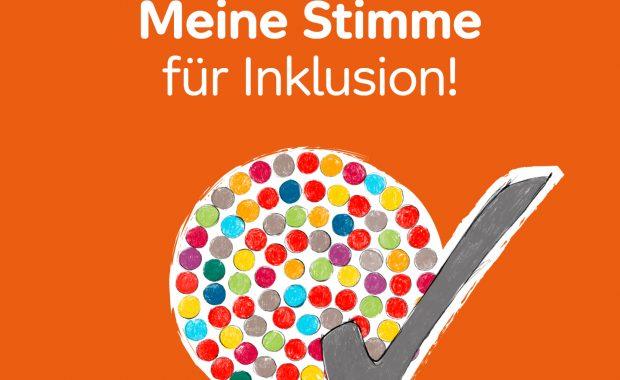 """Aufruf von Aktion Mensch """"Meine Stimme für Inklusion!"""" anlässlich des Europäischen Protesttages zur Gleichstellung von Menschen mit Behinderung. #5Mai"""