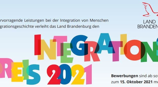 Banner_Landesintegrationspreis 2021 Land Brandenburg